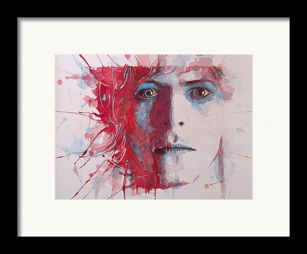 David Bowie Framed Print featuring the painting The Prettiest Star by Paul Lovering