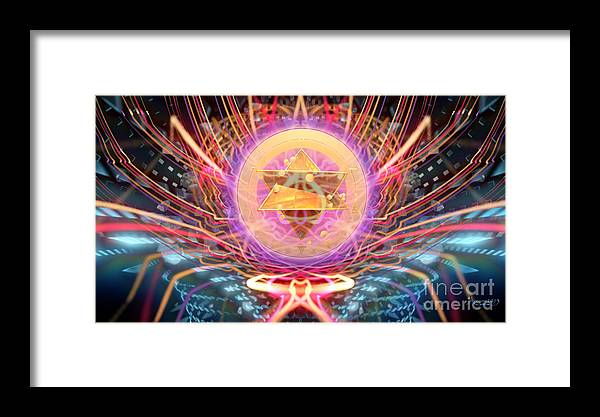 Framed Print featuring the digital art the Prime Matter by Arcane Paradigm