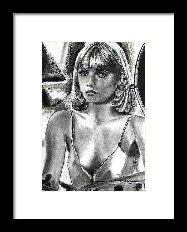 Michelle Pfeiffer Framed Print featuring the drawing The Prize by Eric Dee