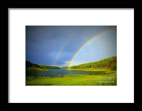 Rainbow Framed Print featuring the photograph The Promise by Mary Willrodt