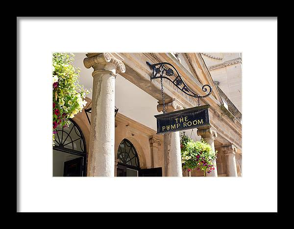 Bath Framed Print featuring the photograph The Pump Room by Jamie Heeke