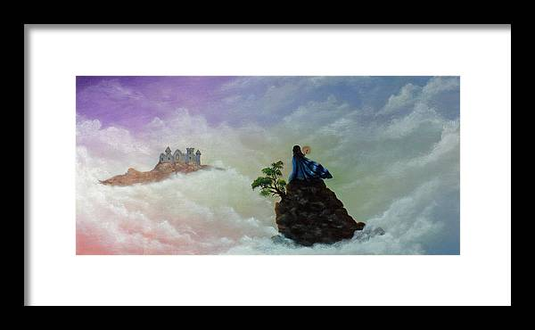 Fantasy Framed Print featuring the painting The Queen's Venture by Dawn Blair