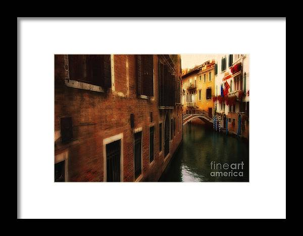 Venice Framed Print featuring the photograph The Quiet Canal by Mike Nellums
