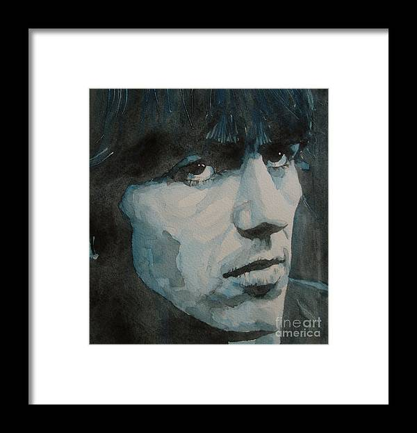 The Beatles Framed Print featuring the painting The quiet one by Paul Lovering