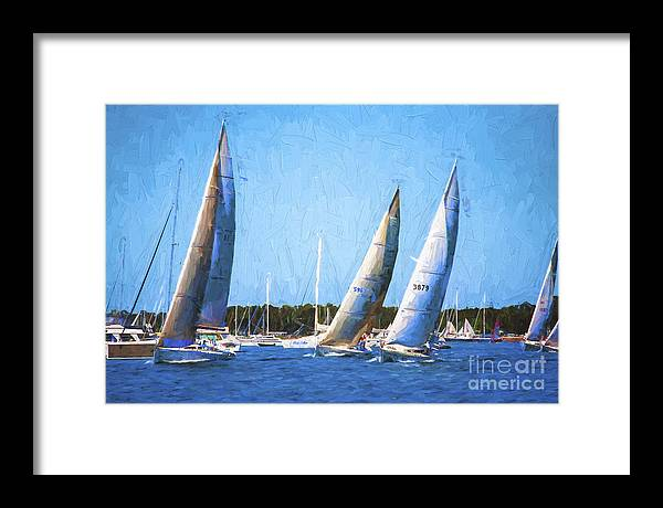 Yacht Race Framed Print featuring the photograph The Race by Sheila Smart Fine Art Photography