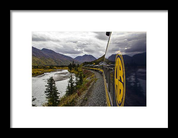 Alaska Framed Print featuring the photograph The Rails To Denali by Kyle Lavey