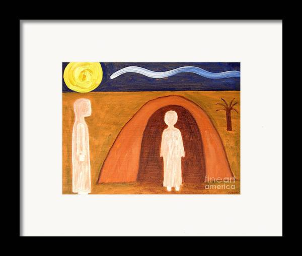 Easter Framed Print featuring the painting The Raising Of Lazarus by Patrick J Murphy