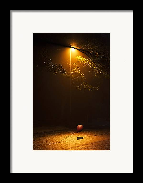 Ball Framed Print featuring the photograph The Red Balloon by Svetlana Sewell
