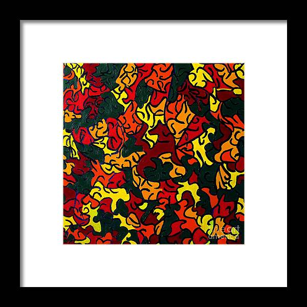 Eunice Broderick Framed Print featuring the painting The Red Fox by Eunice Broderick