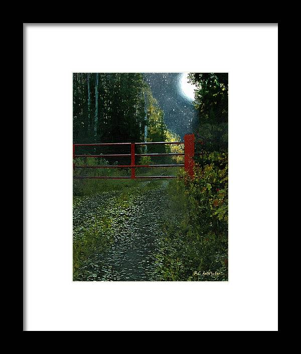 Landscape Framed Print featuring the painting The Red Gate by RC DeWinter