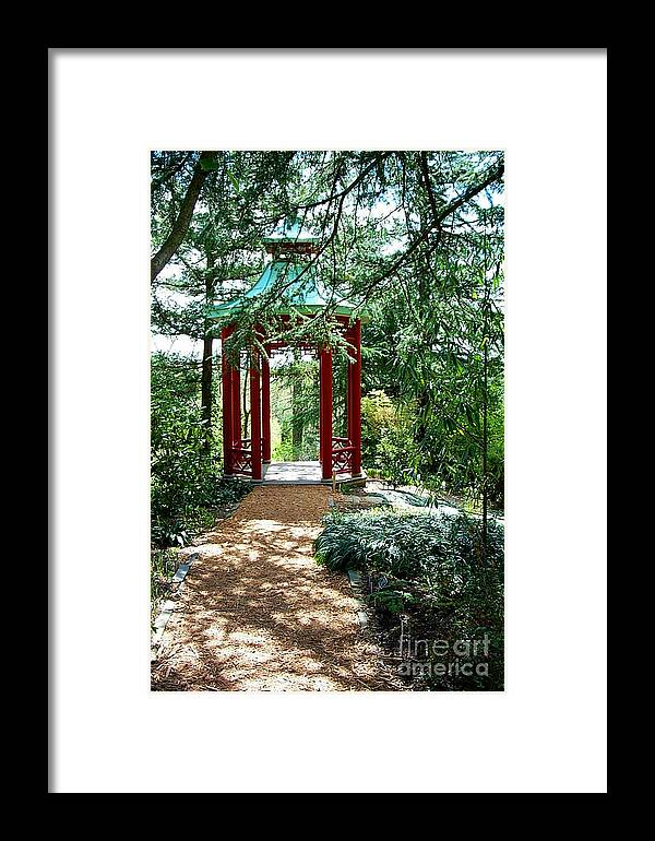 Gazebos Framed Print featuring the photograph Asian Paths No. 29 by Walter Oliver Neal