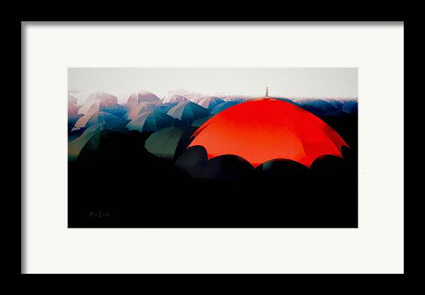 Umbrella Framed Print featuring the painting The Red Umbrella by Bob Orsillo