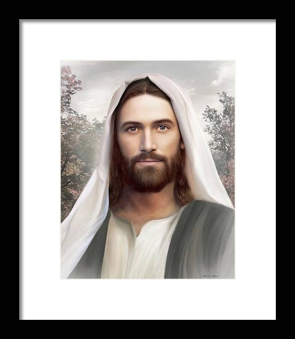 Jesus Framed Print featuring the painting The Resurrection and the Life by Brent Borup