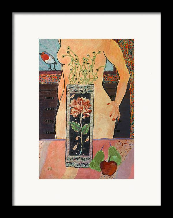 Flowers In A Vase Framed Print featuring the mixed media The Ring by Diane Fine