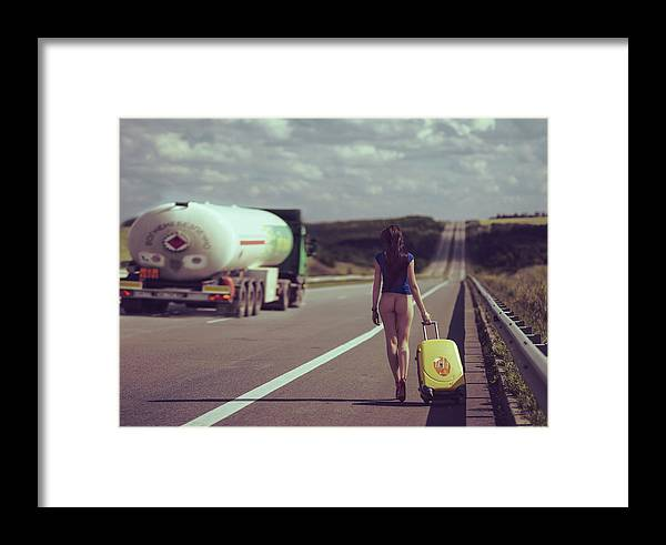 Nude Framed Print featuring the photograph The Road.... by Anri Croizet
