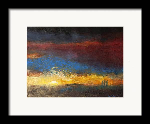 The Road To Emmaus Framed Print featuring the painting The Road To Emmaus by Daniel Bonnell