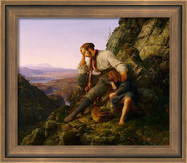 The Robber and His Child by Karl Friedrich Lessing