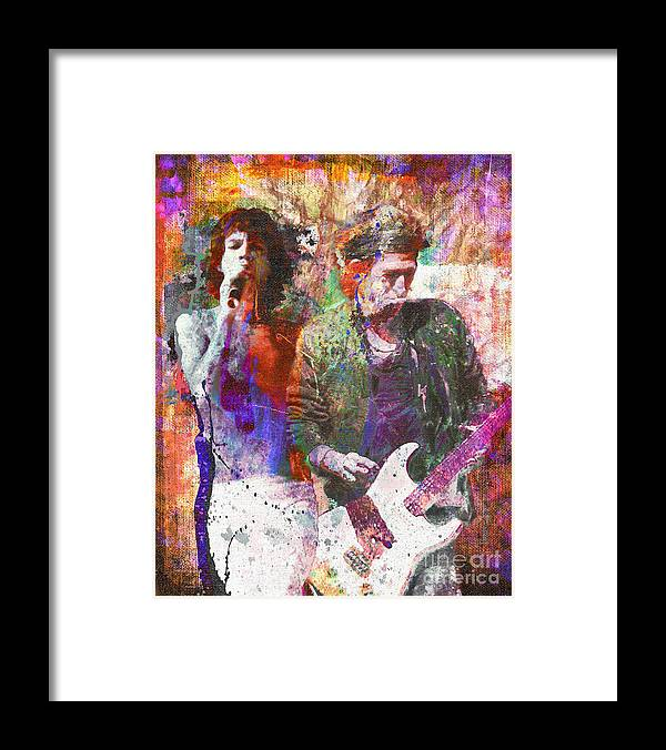 Rock Framed Print featuring the painting The Rolling Stones Original Painting Print by Ryan Rock Artist