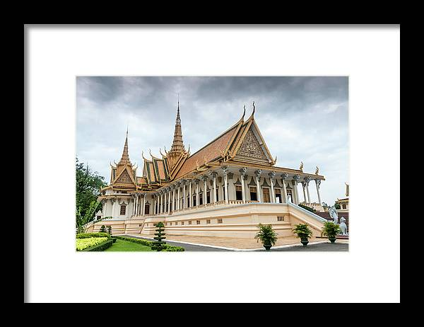 Southeast Asia Framed Print featuring the photograph The Royal Palace And Silver Pagoda In by Tbradford