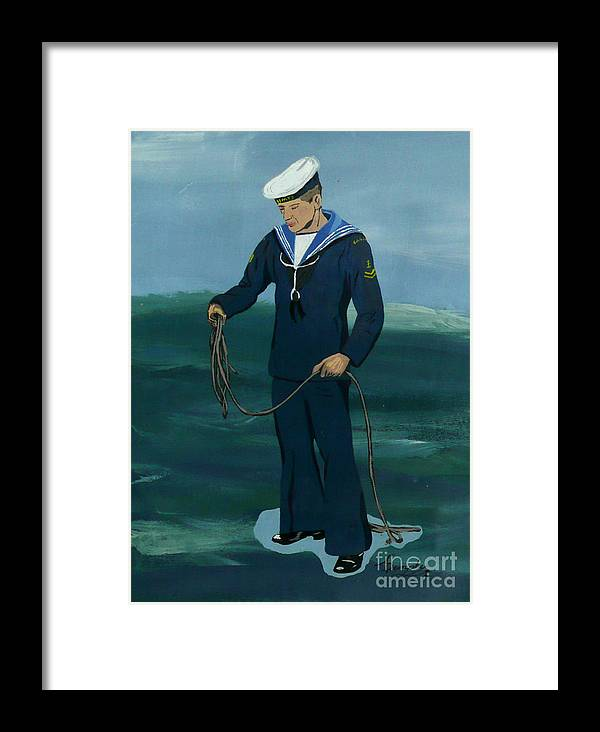 Sailor Framed Print featuring the painting The Sailor by Anthony Dunphy
