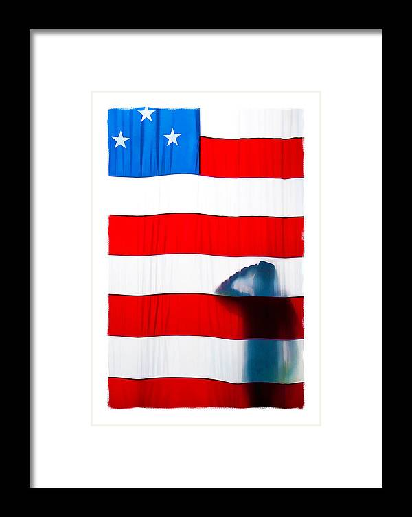 Alone Framed Print featuring the photograph American Flag Salute by Sharon Eisenzopf