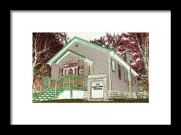 Featured Art Framed Print featuring the photograph The Sanctuary 2 by Alys Caviness-Gober