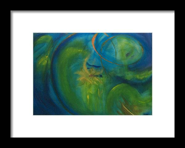 Inspiration Framed Print featuring the painting The Search for Center by Phoenix Simpson