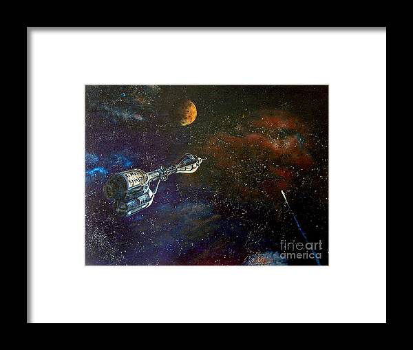 Vista Horizon Framed Print featuring the painting The Search For Earth by Murphy Elliott