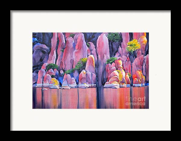 Watercolor Framed Print featuring the painting The Secret Cove by Robert Hooper