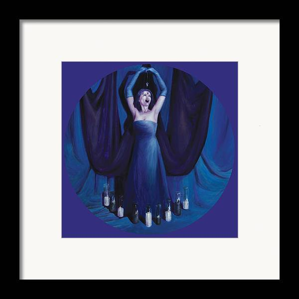 Shelley Irish Framed Print featuring the painting The Seer by Shelley Irish