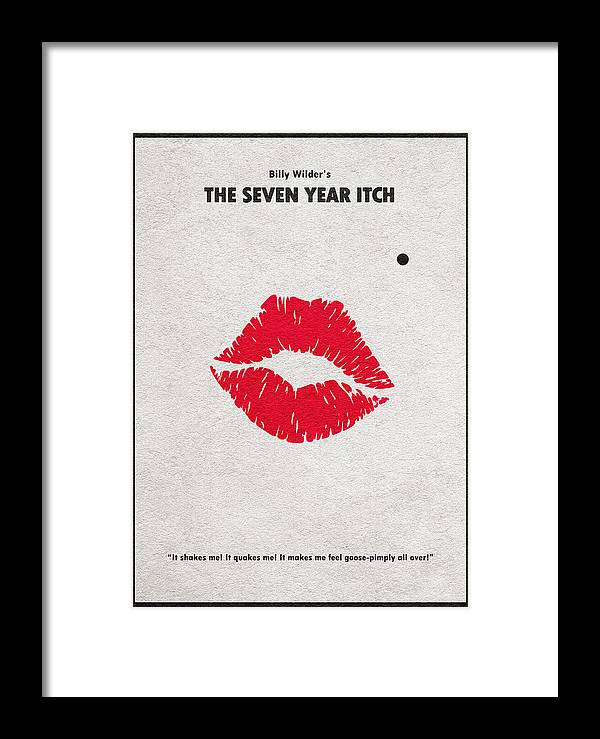 The Seven Year Itch Framed Print featuring the digital art The Seven Year Itch by Inspirowl Design