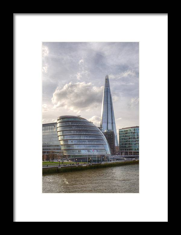 Shard Framed Print featuring the photograph The Shard and City Hall by Chris Day