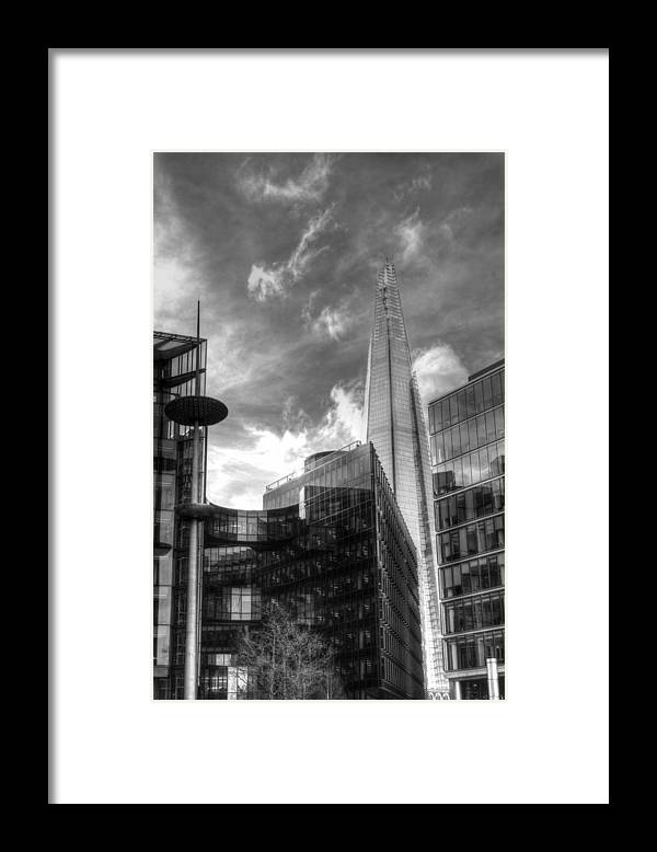 London Shard Framed Print featuring the photograph The Shard by Chris Day