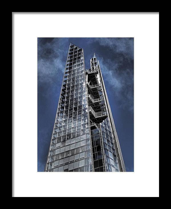 The Shard Framed Print featuring the photograph The Shards Of The Shard by Rona Black