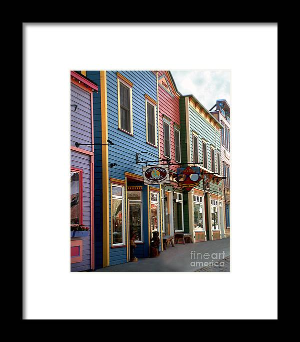 Landscape Framed Print featuring the photograph The Shops In Crested Butte by RC DeWinter