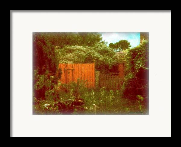 Homescape Framed Print featuring the mixed media The Side Yard by YoMamaBird Rhonda
