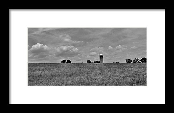 Framed Print featuring the photograph The Silo by Hominy Valley Photography