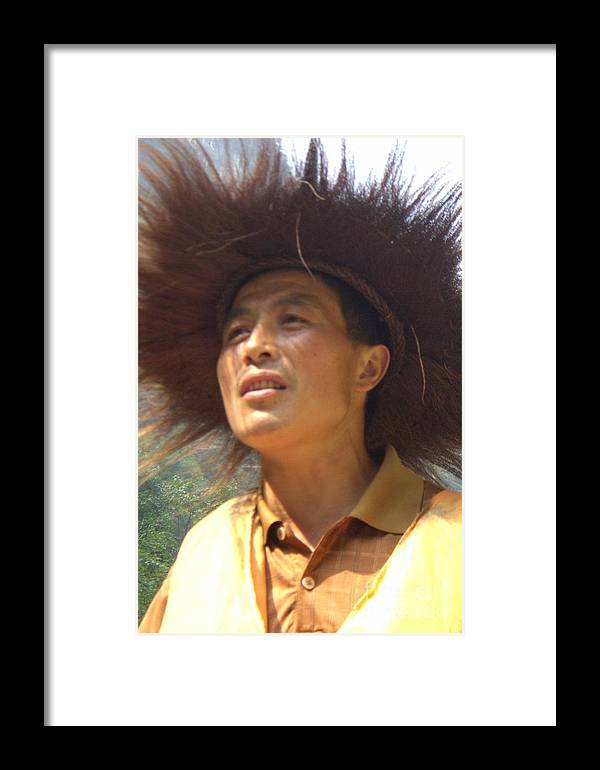 Portrait Framed Print featuring the photograph The Singing Boatman by Barbie Corbett-Newmin