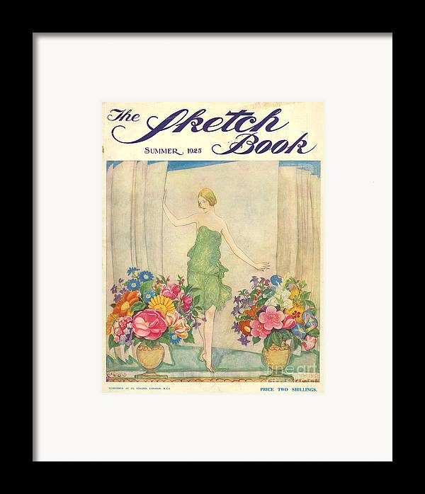 1920�s Framed Print featuring the drawing The Sketch Book 1925 1920s Uk Womens by The Advertising Archives