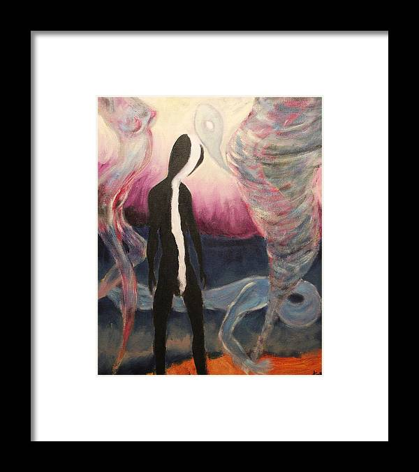 2008 Framed Print featuring the painting The Skunk by Will Felix