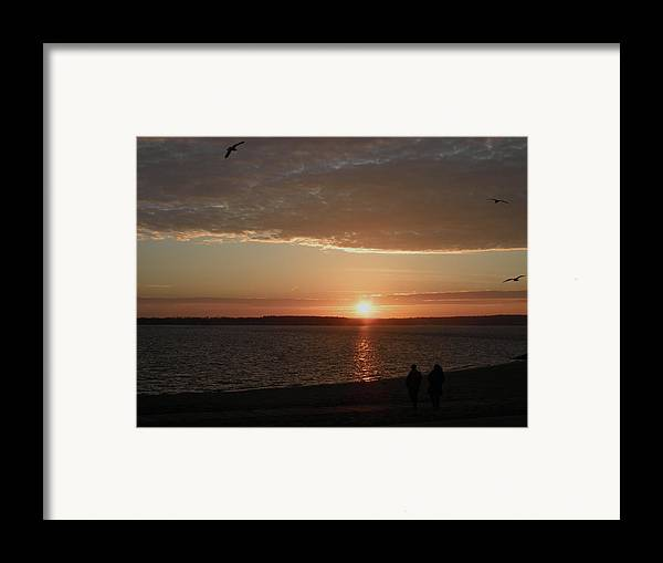 Narragansett Bay Framed Print featuring the photograph The Sky Is Falling by Kate Gallagher