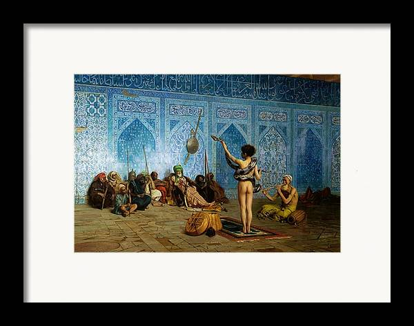 The Snake Charmer Framed Print By Jean Leon Gerome
