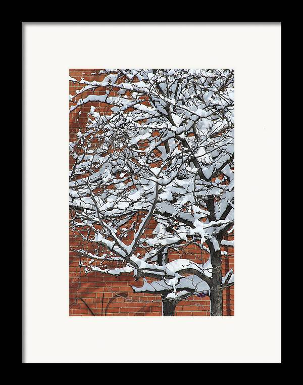 Snow Framed Print featuring the photograph The Snow And The Wall by Frederico Borges