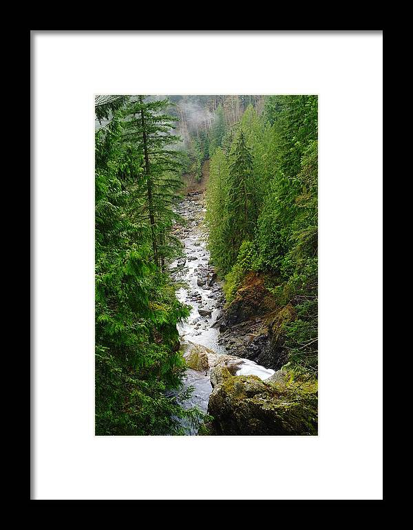 Framed Print featuring the photograph The Snowqualmie River by Jeff Swan