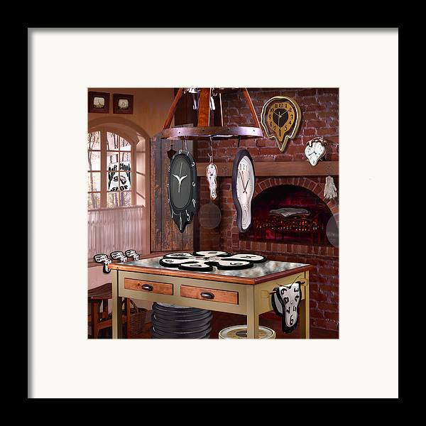 Surrealism Framed Print featuring the photograph The Soft Clock Shop 3 by Mike McGlothlen