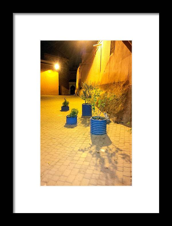 Souks Framed Print featuring the photograph The Souks by Yas Grant