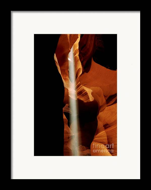 Antelope Canyon Framed Print featuring the photograph The Source by Kathy McClure