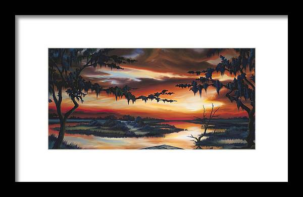 Marsh Framed Print featuring the painting The Southern Marsh by James Christopher Hill