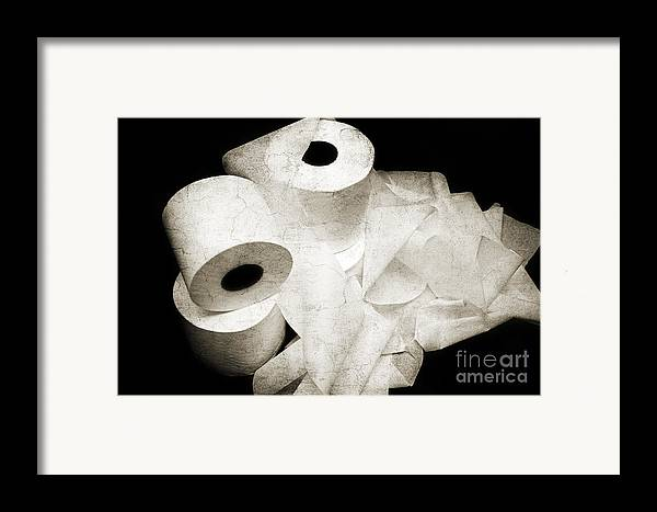 Toilet-paper Framed Print featuring the photograph The Spare Rolls 2 - Toilet Paper - Bathroom Design - Restroom - Powder Room by Andee Design
