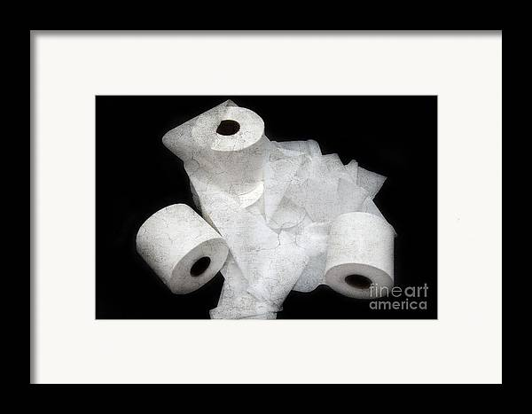 Toilet-paper Framed Print featuring the photograph The Spare Rolls 3 - Toilet Paper - Bathroom Design - Restroom - Powder Room by Andee Design